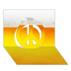 BEER Peace Sign 3D Greeting Card (7x5)