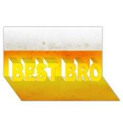 BEER BEST BRO 3D Greeting Card (8x4)