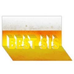 Beer Best Sis 3d Greeting Card (8x4)
