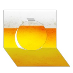 Beer Circle 3d Greeting Card (7x5)