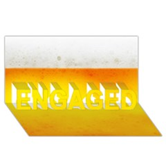 Beer Engaged 3d Greeting Card (8x4)