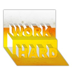 BEER WORK HARD 3D Greeting Card (7x5)