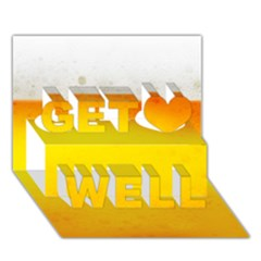 Beer Get Well 3d Greeting Card (7x5)