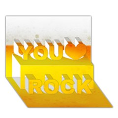 BEER You Rock 3D Greeting Card (7x5)