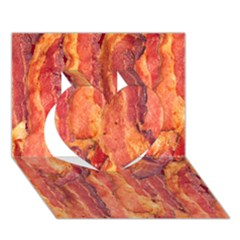 Bacon Heart 3d Greeting Card (7x5)