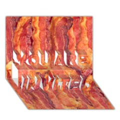 BACON YOU ARE INVITED 3D Greeting Card (7x5)