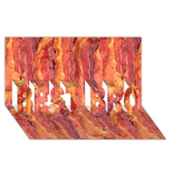 Bacon Best Bro 3d Greeting Card (8x4)