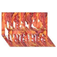 BACON Best Wish 3D Greeting Card (8x4)
