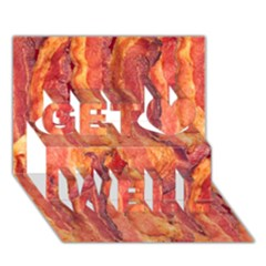 Bacon Get Well 3d Greeting Card (7x5)