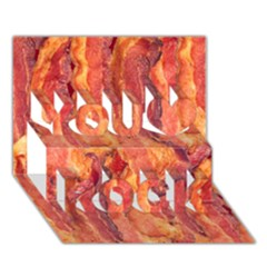 Bacon You Rock 3d Greeting Card (7x5)