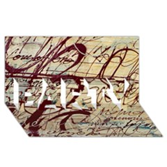 Abstract 2 Party 3d Greeting Card (8x4)