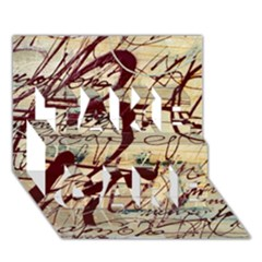 Abstract 2 Take Care 3d Greeting Card (7x5)