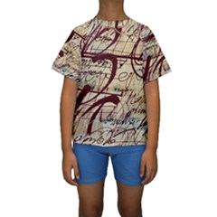 ABSTRACT 2 Kid s Short Sleeve Swimwear