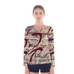 ABSTRACT 2 Women s Long Sleeve T-shirts