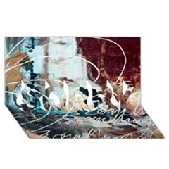 ABSTRACT 1 SORRY 3D Greeting Card (8x4)