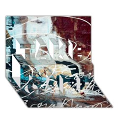 Abstract 1 Take Care 3d Greeting Card (7x5)