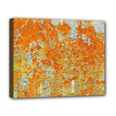 YELLOW RUSTY METAL Deluxe Canvas 20  x 16