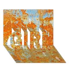 Yellow Rusty Metal Girl 3d Greeting Card (7x5)