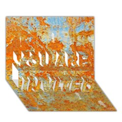 Yellow Rusty Metal You Are Invited 3d Greeting Card (7x5)