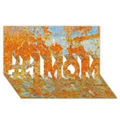 Yellow Rusty Metal #1 Mom 3d Greeting Cards (8x4)