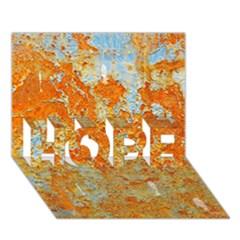 Yellow Rusty Metal Hope 3d Greeting Card (7x5)