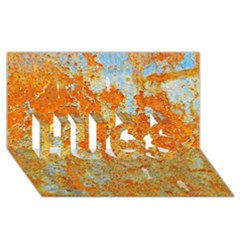 YELLOW RUSTY METAL HUGS 3D Greeting Card (8x4)