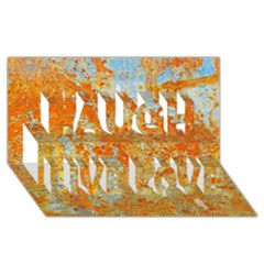Yellow Rusty Metal Laugh Live Love 3d Greeting Card (8x4)