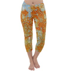 YELLOW RUSTY METAL Capri Winter Leggings