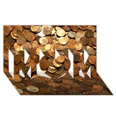Us Coins Mom 3d Greeting Card (8x4)