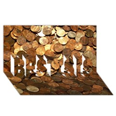 Us Coins Best Sis 3d Greeting Card (8x4)