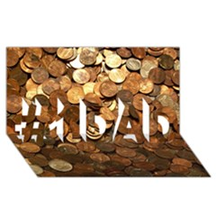 Us Coins #1 Dad 3d Greeting Card (8x4)