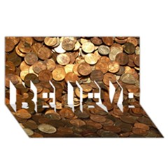 Us Coins Believe 3d Greeting Card (8x4)