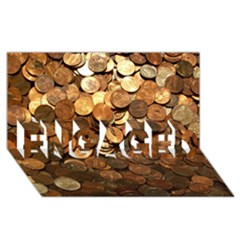 Us Coins Engaged 3d Greeting Card (8x4)