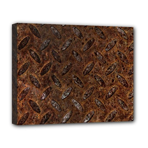 RUSTY METAL PATTERN Deluxe Canvas 20  x 16