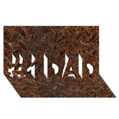 Rusty Metal Pattern #1 Dad 3d Greeting Card (8x4)