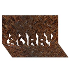 Rusty Metal Pattern Sorry 3d Greeting Card (8x4)