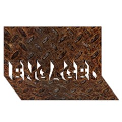 Rusty Metal Pattern Engaged 3d Greeting Card (8x4)