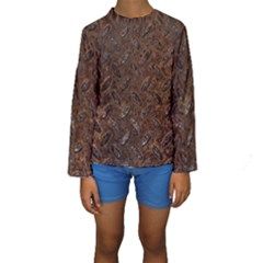 RUSTY METAL PATTERN Kid s Long Sleeve Swimwear