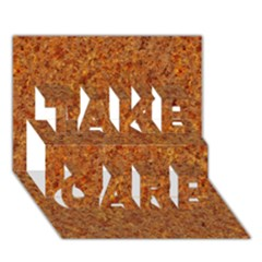 Rusted Metal Take Care 3d Greeting Card (7x5)
