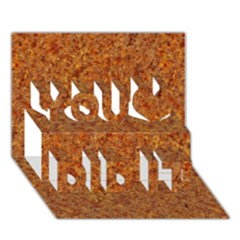 Rusted Metal You Did It 3d Greeting Card (7x5)