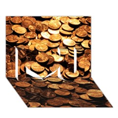 Pennies I Love You 3d Greeting Card (7x5)