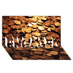 Pennies Engaged 3d Greeting Card (8x4)