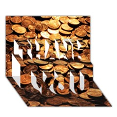 Pennies Thank You 3d Greeting Card (7x5)