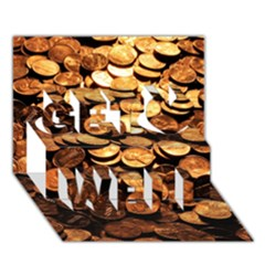 Pennies Get Well 3d Greeting Card (7x5)