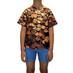 PENNIES Kid s Short Sleeve Swimwear