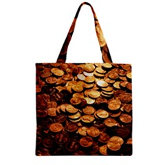 PENNIES Zipper Grocery Tote Bags