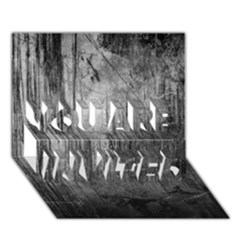 GRUNGE METAL NIGHT YOU ARE INVITED 3D Greeting Card (7x5)