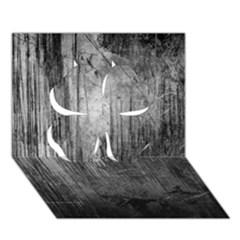 Grunge Metal Night Clover 3d Greeting Card (7x5)