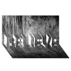 GRUNGE METAL NIGHT BELIEVE 3D Greeting Card (8x4)