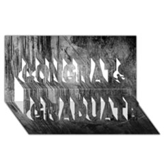 Grunge Metal Night Congrats Graduate 3d Greeting Card (8x4)